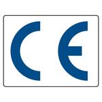 CE-Kennzeichen transparent / blau