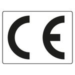 CE-Kennzeichen transparent / schwarz