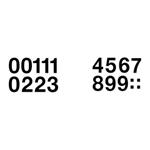 Herma 4189 Zahlen 33 mm 0-9 wetterfest Folie schwarz