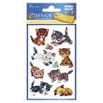 Kinder Sticker Fr/ösche 3 Bogen 3 Avery Zweckform ZDesign 53168