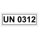 UN-Verpackungskennzeichen mit UN 0312