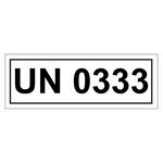 UN-Verpackungskennzeichen mit UN 0333