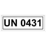 UN-Verpackungskennzeichen mit UN 0431