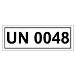 UN-Verpackungskennzeichen mit UN 0048