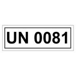 UN-Verpackungskennzeichen mit UN 0081