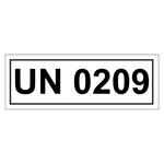 UN-Verpackungskennzeichen mit UN 0209