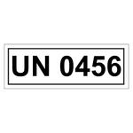 UN-Verpackungskennzeichen mit UN 0456