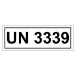 UN-Verpackungskennzeichen mit UN 3339