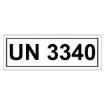 UN-Verpackungskennzeichen 14 x 5,5 cm mit UN 3340