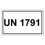 UN-Verpackungskennzeichen 10 x 6 cm mit UN 1791
