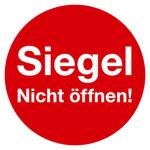 "Siegel ""Siegel Nicht öffnen!"" Ø 30 mm aus Dokumentenfolie"