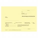 Benachrichtigung in Nachlasssachen / Verwahrungsnachricht an Standesamt